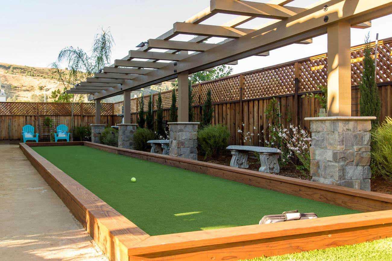 Bocce court installation in Morgan Hill