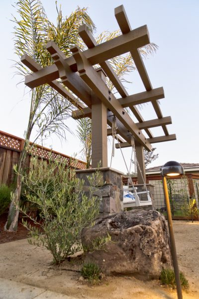 pergola and outdoor lighting