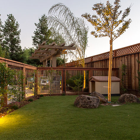 outdoor lighting design and installation with dog house in morgan hill ca
