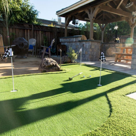 putting green installed in Morgan Hill, California