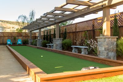 custom bocce court