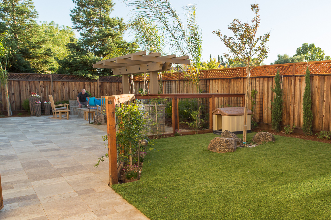 dog house with fence