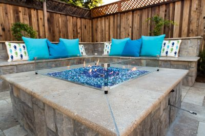 custom fire pit close up