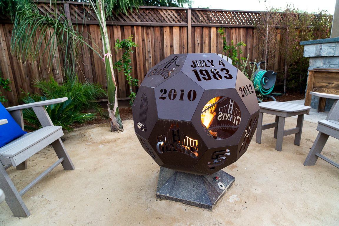 fire pit made from steel