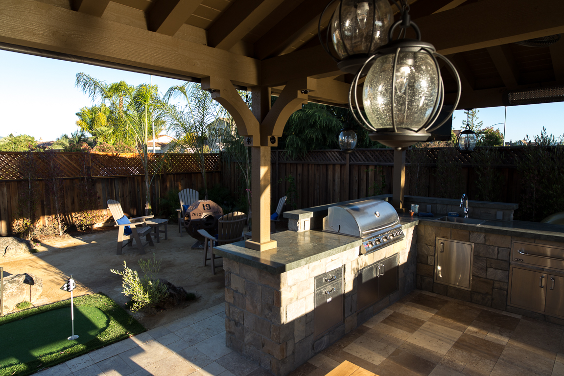 outdoor kitchen and barbeque