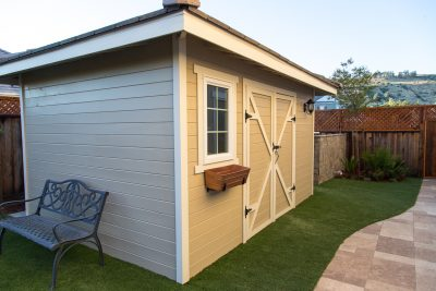 custom shed made from wood