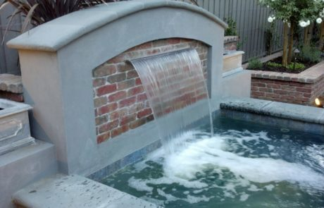 custom stone fountain in Menlo Park