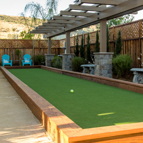 bocce ball court installed in Morgan Hill, CA