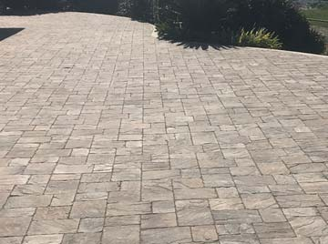 custom stone patio design