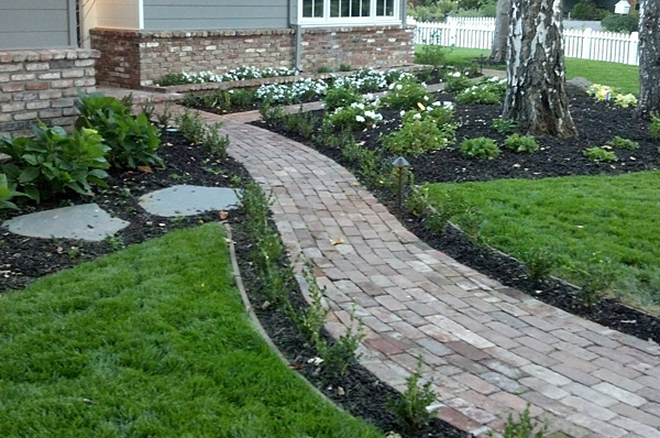 this garden and walkway was designed and build by our landscapers in Morgan Hill