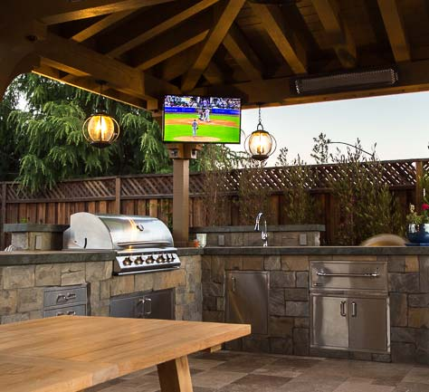 our team designed and installed this outdoor kitchen in Morgan Hill