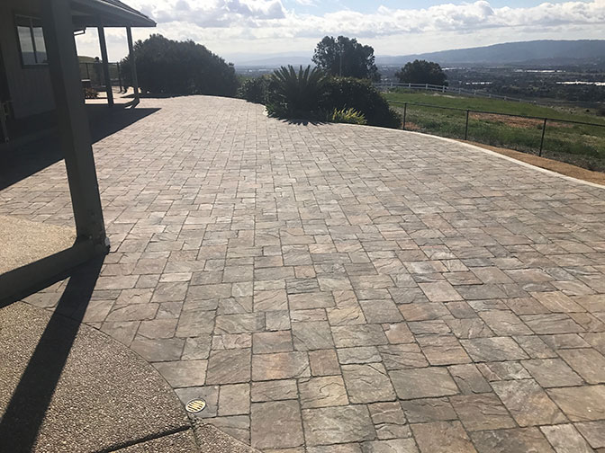 Paver patio installed in Los Gatos backyard