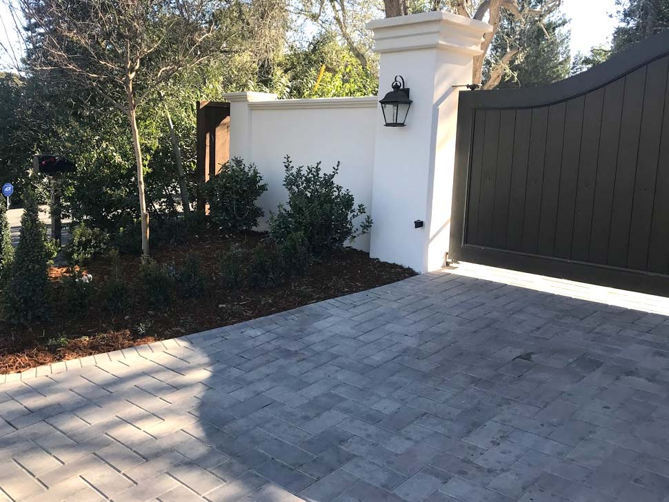 our team finished installing a driveway pavers in Morgan Hill, CA