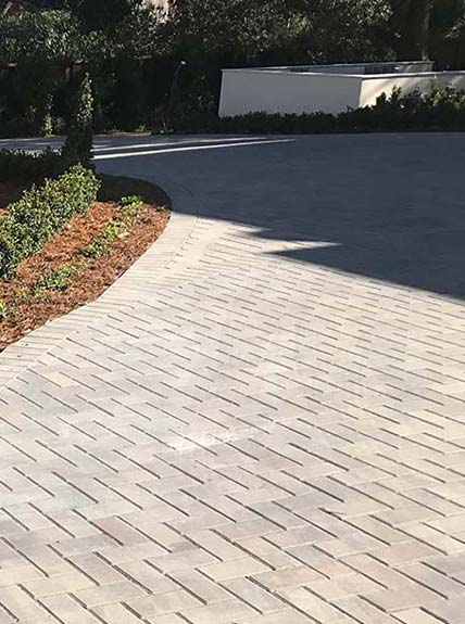 walkways pavers installed