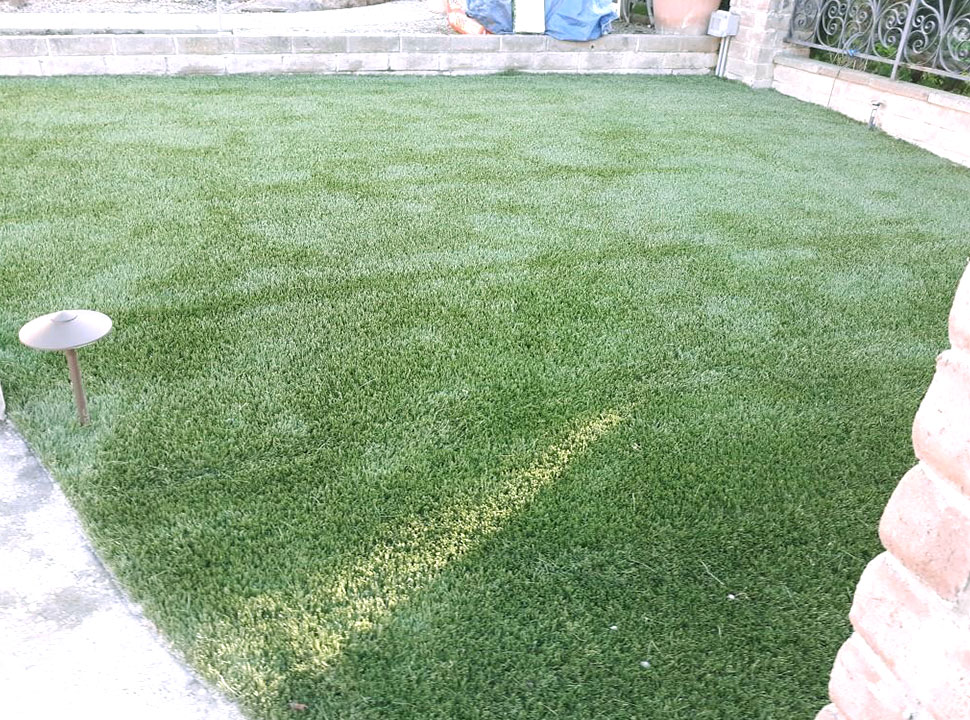 our team finished working on a turf installation in Morgan Hill
